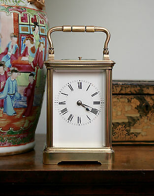 Stunning Henri Jacot c19th Striking Repeat Carriage Clock, GWO & Key