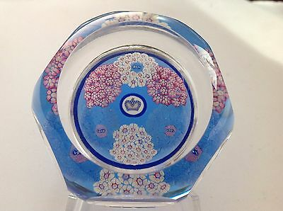 Whitefriars 1978 Limited Edition Coronation Garland Glass Paperweight