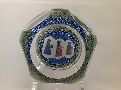 Whitefriars 1976 3 Wise Men Glass Paperweight