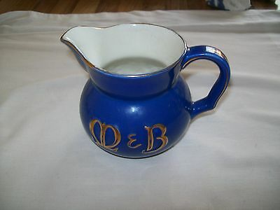 """Wade M&b Brewery Blue & Gold Water Jug: 4.5"""" Tall: Fair Condition"""