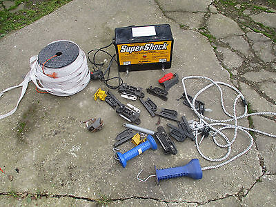 240 VOLT MAINS ELECTRIC FENCE ENERGIZER UNIT WITH HORSE TAPE & FIXINGS horse cow
