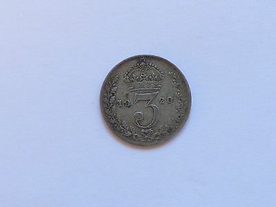 Great Britain George V Threepence Coin 1920