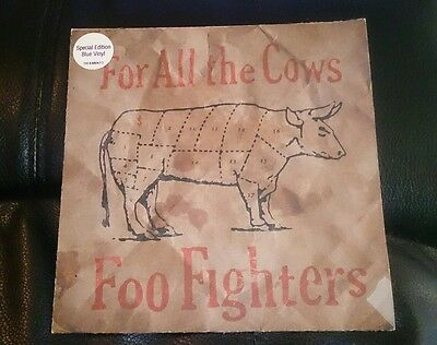 Foo fighters limited edition blue vinyl record 'For All The Cows'