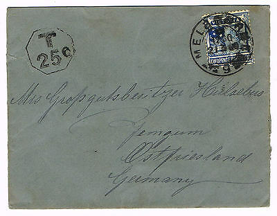 AUSTRALIA-Victoria -TAXED cover to Germany, Melbourne 21.3.1900 - 786