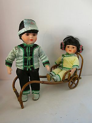 !Showstoppers Doll - Jade and Ming w Bamboo Rickshaw