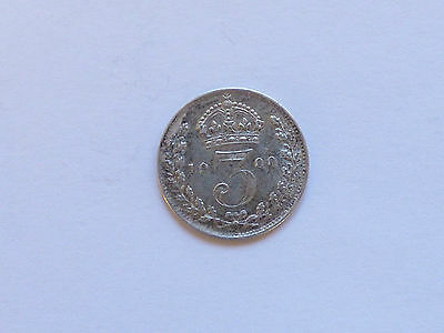 Great Britain Victoria Threepence Coin 1900