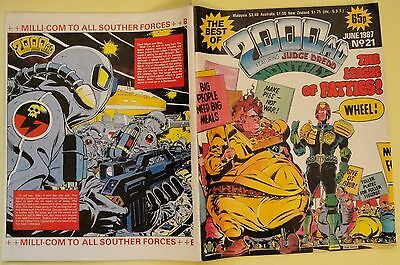 The best of 2000AD featuring Judge Dredd monthly comic June 1987 Nr.21