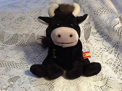 1998 Coca-Cola International Collection Toro Bull Beanie Plush Toy #0215 w/ tag