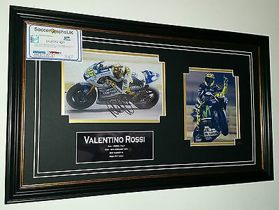 *** Rare VALENTINO ROSSI Signed Photo Picture Display ***