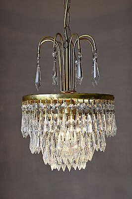 Home Fitting Icicle Antique French Crystal Chandelier lighting Art Nouveau Lamp