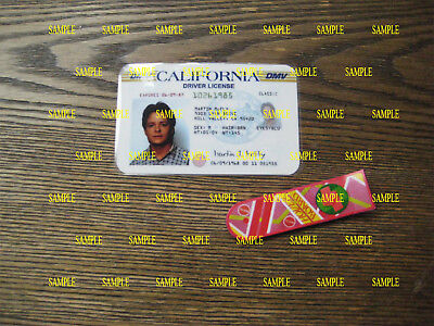 Back to the Future - Marty McFly Driver License & Hover Board Fridge Magnet