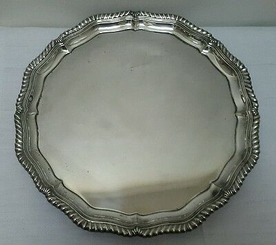 A Vintage Silver Plated Footed Tray by Alpadur