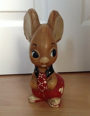 Pendelfin Father Rabbit Kipper Tie Red Collectable