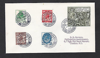 1929 Postal Union Congress 1/2d to £1.00: Very Rare FDC: FORGERY
