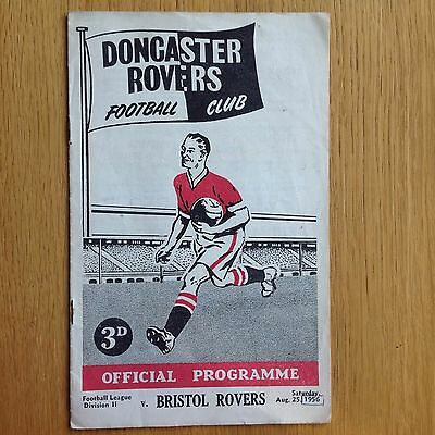 1956 Doncaster Rovers v Bristol Rovers Football Programme