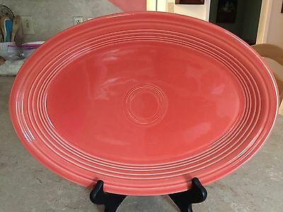 """Fiestaware Retired Persimmon 13.5"""" x 9"""" Large Oval Serving Platter"""