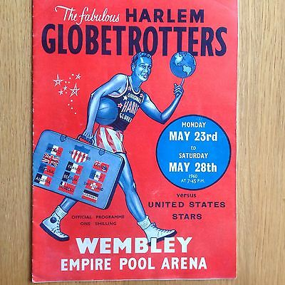 1960 Harlem Globetrotters v U.S.A. at Wembley Basketball Programme