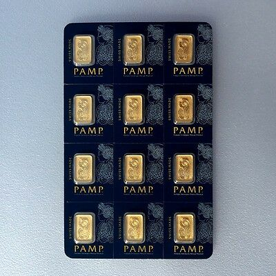 12 gram PAMP FORTUNA pure gold combicard