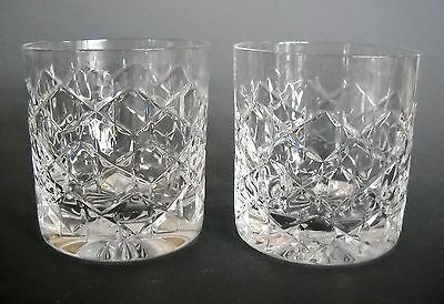 Tiffany & Co GRENADA Old Fashioned Set of Two Crystal Glasses