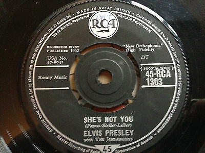 Elvis Presley 'She's Not You'. ROCK N ROLL 1962 UK RCA VG