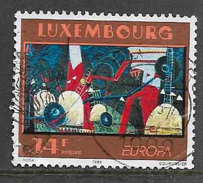 Luxembourg Postal Issue - Used Commemorative Stamp 1993 Europa Modern Art