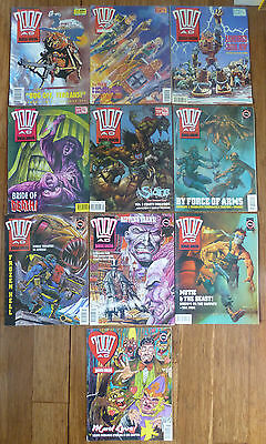 Bundle of 10 x 2000 AD Featuring Judge Dredd Comics from 1989 - 1991