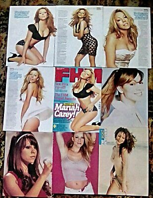 * RARE OLDER Mariah Carey Clippings Posters Pack 25 Page FHM + ( 1996 - 2008 ) *