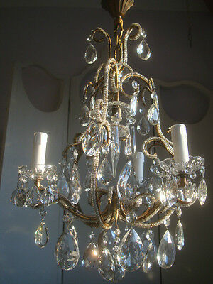 ~~ superb beaded vintage french crystal chandelier ~