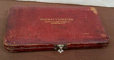 Antique Bausch & Lomb Optical HAEMACYTOMETER Case. Rochester N.Y