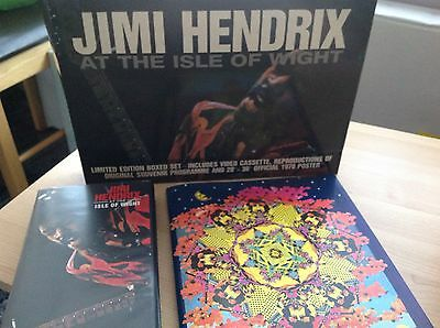 Jimi Hendrix At The Isle Of Wight Limited Edition Boxed Set Video, Poster,progra
