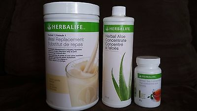 Herbalife Protein Shake 750 g, Herbal Aloe Concent. 473 ml & Tea Concent. 50ml