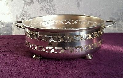 A Vintage Silver Plated Fruit Bowl by William Suckling Birmingham