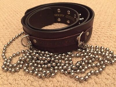 Miss Sixty Belt Brown Genuine Leather Chains