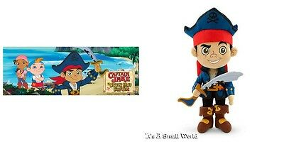 "Disney Store Jake and the Never Land Pirates Jake Plush Soft Doll Size 12"" H NWT"