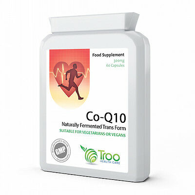 Co Enzyme Q10 CoQ10 300mg 60 Capsules - UK Manufactured GMP Guaranteed Quality