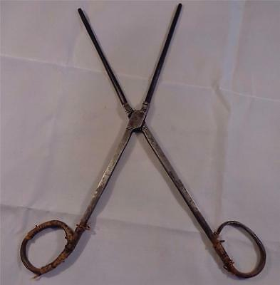 Antique Georgian Ironsmith Made Wig Iron Hair Curling Tongs Toupet Iron c 1800
