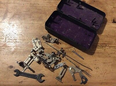 Vintage Mixed Singer Sewing Machine Attachments -in Original Metal  Tin