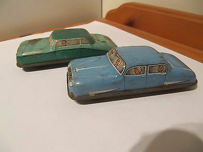 Two Vintage Old Tinplate cars