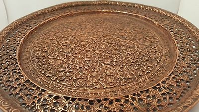 Antique Islamic Indian Kahmire Copper Tray