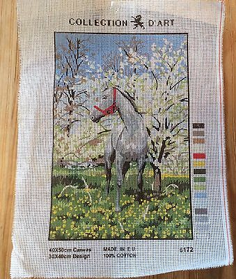 Tapestry/Embroidery Collection D'Art 6172 - DMC- Horse  in Woods  40 x 50  NEW!