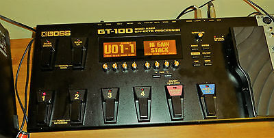 Boss GT 100 Mk2 Guitar effects Processor With Power Supply