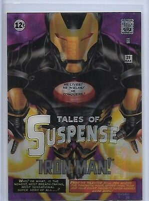 2016 Marvel Masterpieces Iron Man What if Acetate Achievement SSP Less Than 15!