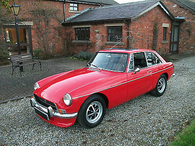 MGB GT, 1971, Chrome Bumpers, Tax Exempt, Overdrive