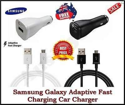 Samsung Galaxy Adaptive Fast Charging Car/Wall Charger S8 S7 S6 Edge+,NOTE 4 5