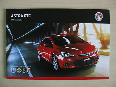 Vauxhall Astra GTC UK Sales Brochure (2012 Ed 1)