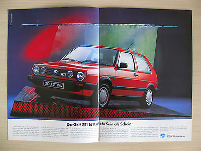 Volkswagen Range Sales Brochure (1988), Inc Golf Gti, Polo Coupe (German Text)