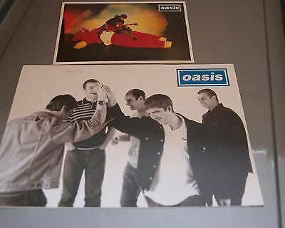 2 x OASIS MAILING LIST CHRISTMAS CARDS - 1997 & 1995