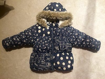 NEXT Baby Girl Blue/dots Jacket Size 1 1/2 - 2 Years