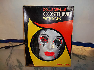 Vintage Collegeville Vampire Costume with Reflecta-Lite Mask 3293