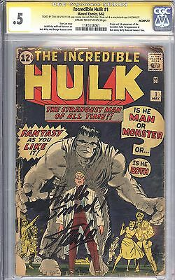 Incredible Hulk #1 CGC 0.5 SS Signed by Stan Lee Unrestored 1st App of Hulk 1962